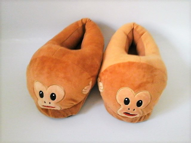 54f53a5f3937 Hear No Evil Monkey Slippers - Mojicon